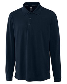 Cutter & Buck BCK01271 Men Cb Drytec Long Sleeve Championship Polo at bigntallapparel