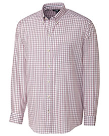 Cutter & Buck Bcw00093 Men Long Sleeve Orcas Wrinkle Free Plaid