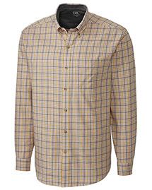 Cutter & Buck Bcw00116 Men Long Sleeve Idaho Plaid