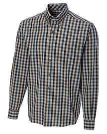 Cutter & Buck Bcw01777 Men Long Sleeve Golden Horn Check