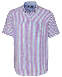 Cutter & Buck BCW09558  S/S River Front Stripe