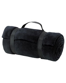 Port & Company BP10 Fleece Value Blanket With Strap at bigntallapparel