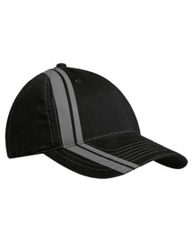 Port Authority C825  New  Double Stripe Cap at bigntallapparel