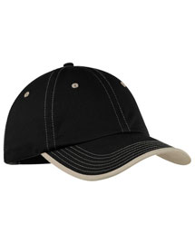 Port Authority C835 Mens Vintage Washed Contrast Stitch Cap at bigntallapparel