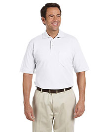 Chestnut Hill CH100P Men's Performance Plus Piqué Polo With Pocket at bigntallapparel