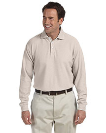 Chestnut Hill CH110 Mens Long Sleeve Performance Plus Pique Polo at bigntallapparel
