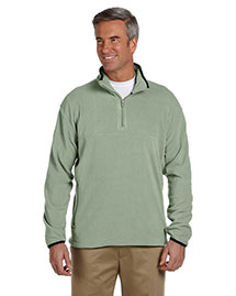 Chestnut Hill Ch910 Men Microfleece Quarter-Zip Pullover