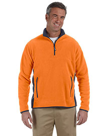 Chestnut Hill CH970 Men Polartec Colorblock Quarter-Zip Jacket