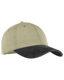 Port & Company CP83  2 Tone Pigment Dyed Cap at bigntallapparel