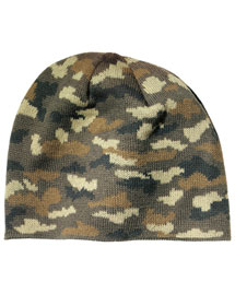 Port & Company CP91C Mens Camo Beanie Cap at bigntallapparel