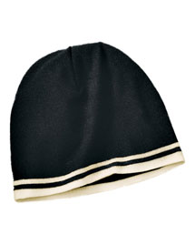 Port & Company CP93  Fine Knit Skull Cap With Stripe