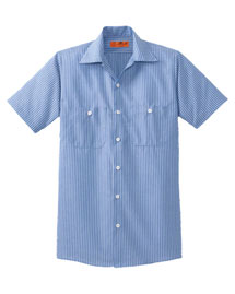 CornerStone CS20 Men's Short Sleeve Striped Industrial Work Shirt