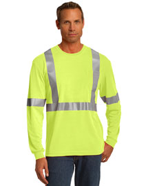 Cornerstone CS401LS Men Ansi 107 Class 2 Long Sleeve Safety Tshirt