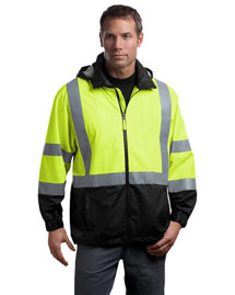 CornerStone CSJ25 Men Ansi Class 3 Safety Windbreaker
