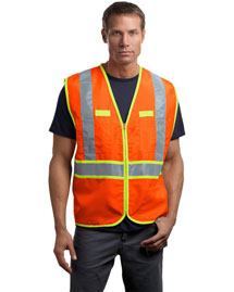 CornerStone CSV407 Mens Ansi Class 2 Dual-Color Safety Vest at bigntallapparel