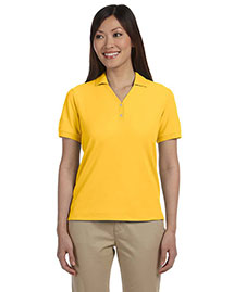 Devon & Jones D100W Women Pima Pique Short-Sleeve Y-Collar Polo