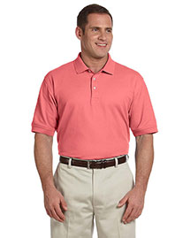 Devon & Jones D100 Men Pima Pique Short Sleeve Polo at bigntallapparel