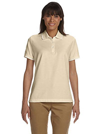 Devon & Jones D113w Women Pima Pique Short-Sleeve Tipped Polo