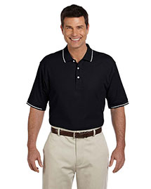 Devon & Jones D113 Men Pima Pique Short Sleeve Tipped Polo