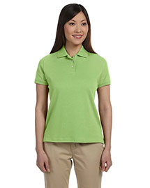 Devon & Jones D140SW Ladies' Solid Perfect Pima Interlock Polo at bigntallapparel