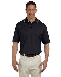 Devon & Jones D140 Men Tipped Perfect Pima Interlock Polo at bigntallapparel
