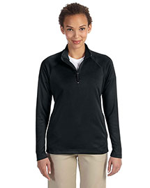 Devon & Jones DG440W Women Stretch Tech-Shell Compass Quarter-Zip