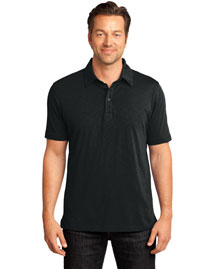 District Threads Dm350 Men   Slub Polo