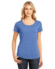 District Threads DM441 Women Tri-Blend Lace Scoop Tee