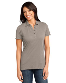 District Threads DM450 Ladies Slub Polo at bigntallapparel