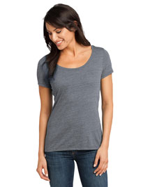 District Threads Dm471 Women   Textured Scoop Tee
