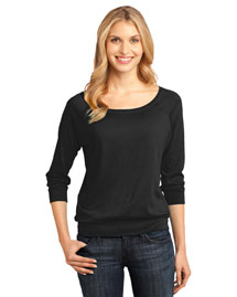 District Threads DM482 Ladies Modal Blend 3/4-Sleeve Raglan at bigntallapparel