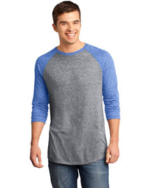 District Threads DT162 Men Microburn 3/4-Sleeve Raglan Tee