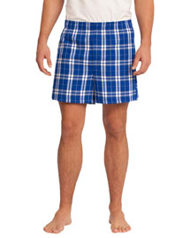 District Threads DT1801 District® Young Mens Flannel Plaid Boxer at bigntallapparel
