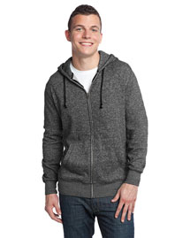 District Threads DT192 Men Marled Full-Zip Hoodie