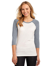 District Threads DT228 District® Juniors 50/50 3/4-Sleeve Raglan Tee at bigntallapparel