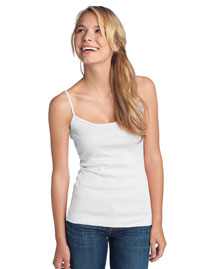 District Threads DT232 Women Wo1x1 Rib Spaghetti Strap Tank