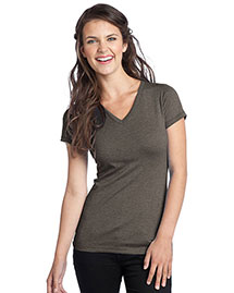 District Threads DT242V Women Tri-Blend V-Neck Tee