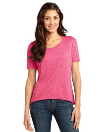 District Threads Dt260 Women Microburn Wide Neck Hi/Lo Tee