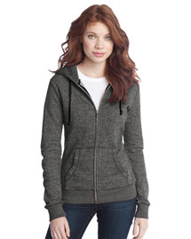 District Threads Dt292 Women Marled Full-Zip Hoodie
