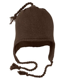 District Threads DT604  Knit Hat With Earflaps