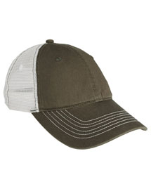 District Threads DT607 Mens Mesh Back Cap at bigntallapparel
