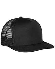 District Threads DT624 District® Flat Bill Snapback Trucker Cap at bigntallapparel