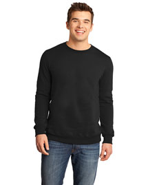 District Threads Dt820 Men Concert Fleece Crew
