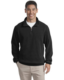Port Authority F220 Men Flatback Rib 1/4 Zip Fleece Jacket