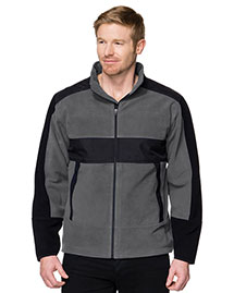 Tri-Mountain F7885 Men 100% Poly Fleece/Mesh Bonded Jacket