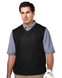 Tri-Mountain J2612 Mens 100% Polyester Micro W/R V-Neck Vest With 2 Zip Slash Pockets & Elastic Bottom at bigntallapparel