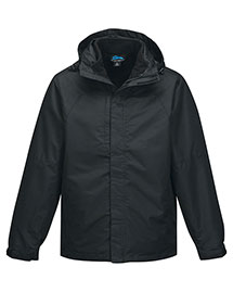 Tri-Mountain J8750 Men's 2 In I 100% Polyester W/R Jacket, Inside Poly Fleece Jacket at bigntallapparel