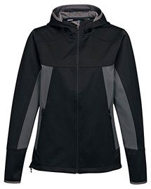 Tri-Mountain JL6158 Women's Hoody Jacket W/ Contrast Side Panel And Zip Pockets at bigntallapparel
