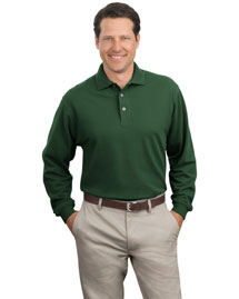 Port Authority K320 Men Long Sleeve Pique Knit Polo Sport Shirt