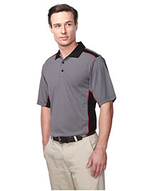 Tri-Mountain K340 Men 100% Polyester Knit S/S Golf Shirt